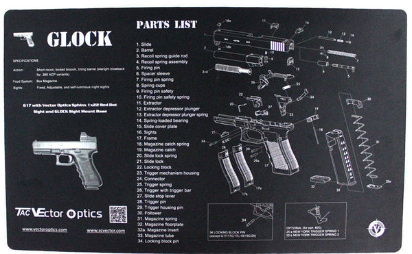 Glock Gunsmith's Gun Cleaning and Maintenance Mat 11