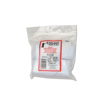 Pro Shot cotton cleaning patches .38-.45 CAL. (20-410 gauge) Qty 250