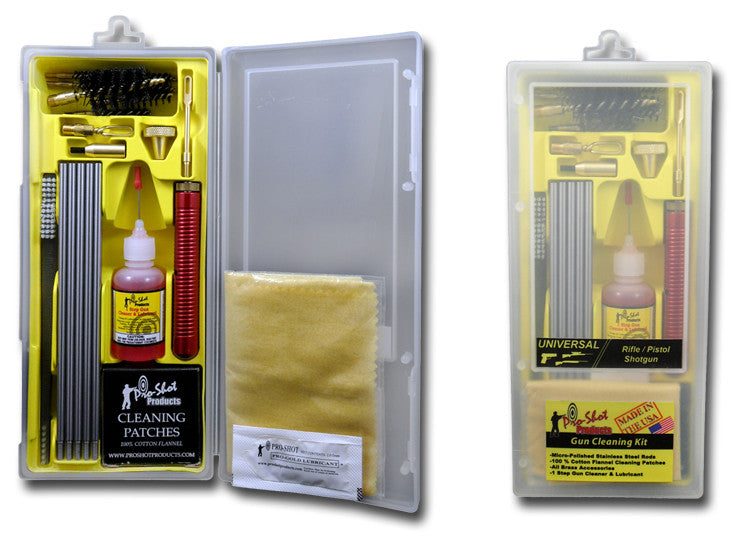 Pro Shot Gun Classic Box Cleaning Kit (.22/.45/410 GA/270, 7MM)