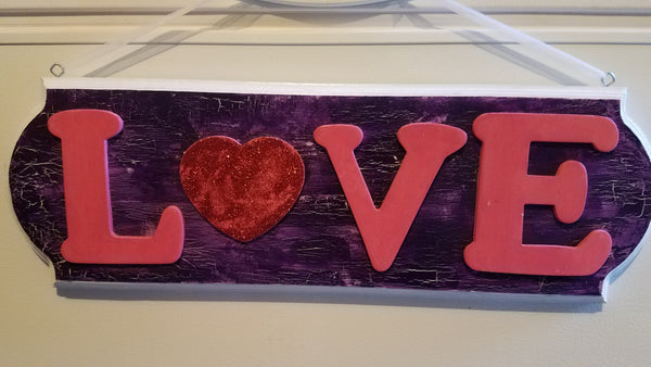 Wooden Love Sign - Farm District Crafts