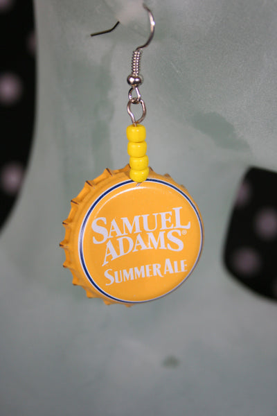 Bottle Cap Earrings - Farm District Crafts