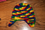 3 to 6 Month Ear Flap Beanie - Farm District Crafts