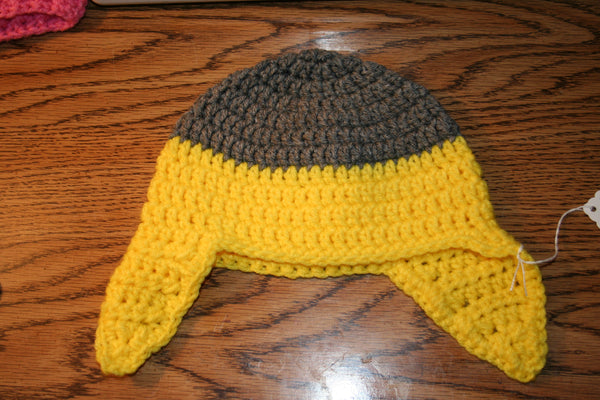 6 to 12 Month Ear Flap Beanie - Farm District Crafts
