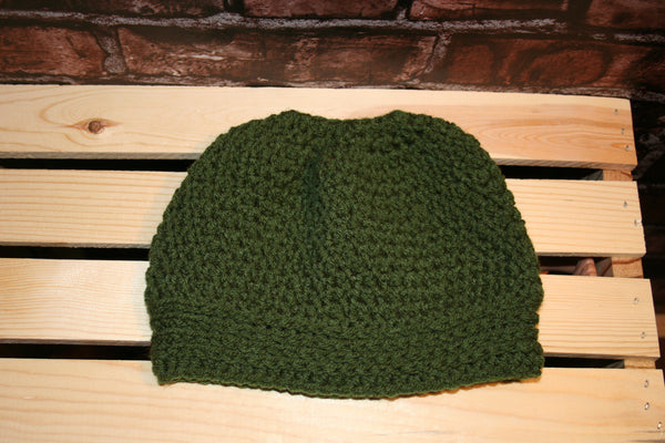 Back N Forth Messy Bun Beanie - Farm District Crafts