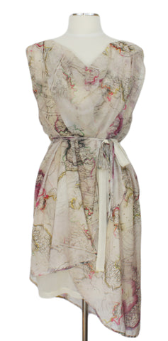 Ends of the Earth Dress, Ever Rose, Dress Shop Canada, map dress