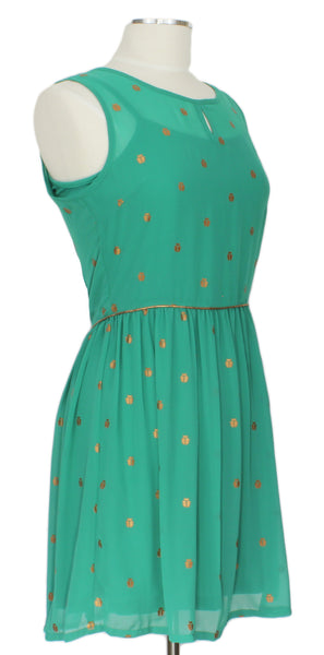 Flicker Like Fireflies Dress, Ever Rose Dress, Ever Rose, Green Day Dress