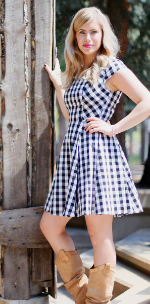 Moving To The Country Dress, Ever Rose, Black & White Dress