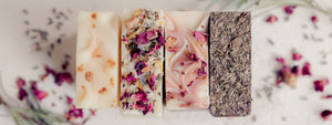 Herbal Handmade Soaps made with rich Shea Butter.  All created by Arcadia Valley Soap Co in Ironton, Missouri