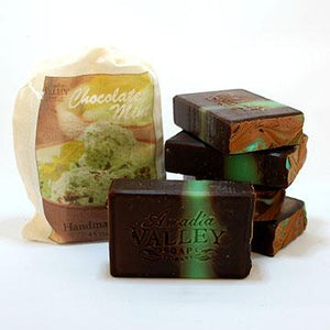 Chocolate Mint Handmade Soap with creamy Shea Butter