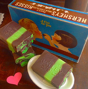 Yummy chocolate mint soap, but please don't eat it!!!