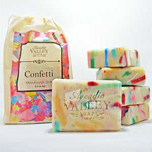 Cucumber Melon Confetti Soap - Every soap is different!