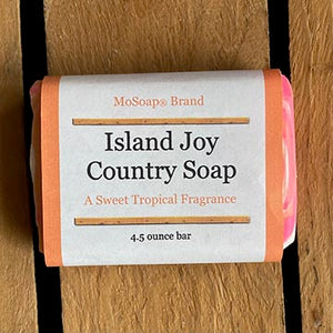 Packaging for Island Joy Country Soap