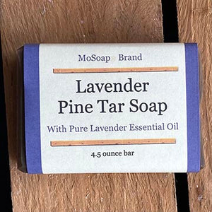 Packaging for Lavender Pine Tar Soap by MoSoap