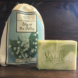 Lily of the Valley Handmade Shea Butter Soap with Bag
