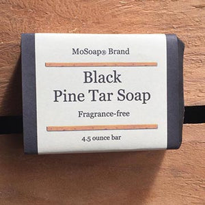 MoSoap Black Pine Tar Soap Fragrance Free