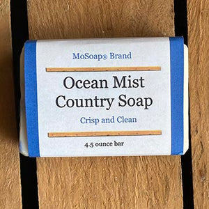 Packaging for Ocean Mist Country Soap