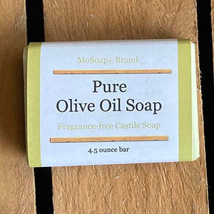 Packaging for MoSoap's Olive Oil Soap