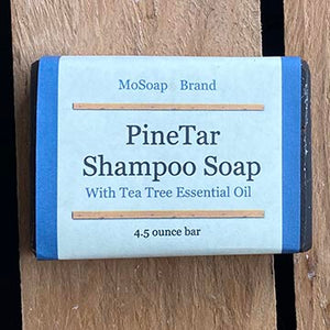 Pine Tar Shampoo Bar with Tea Tree Oil