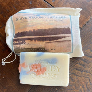 Drive Around the Lake - Shepherd Mountain Lake Soap with Decorative BAg