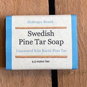 Vegan Pine Tar Castile Soap Packaging