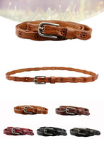 Load image into Gallery viewer, Head layer cowhide, carved female slender waist belt for women 002