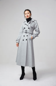 light gray wool coat