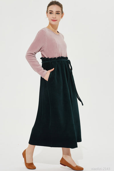 maxi corduroy dress