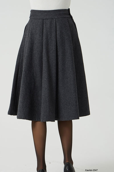 winter wool skirt