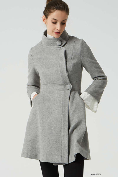 short wool coat