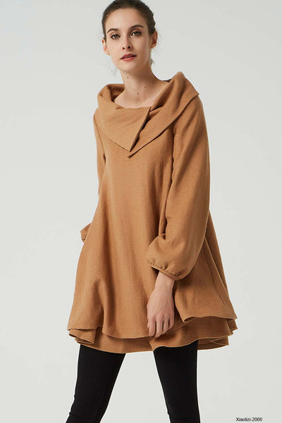 brown tunic