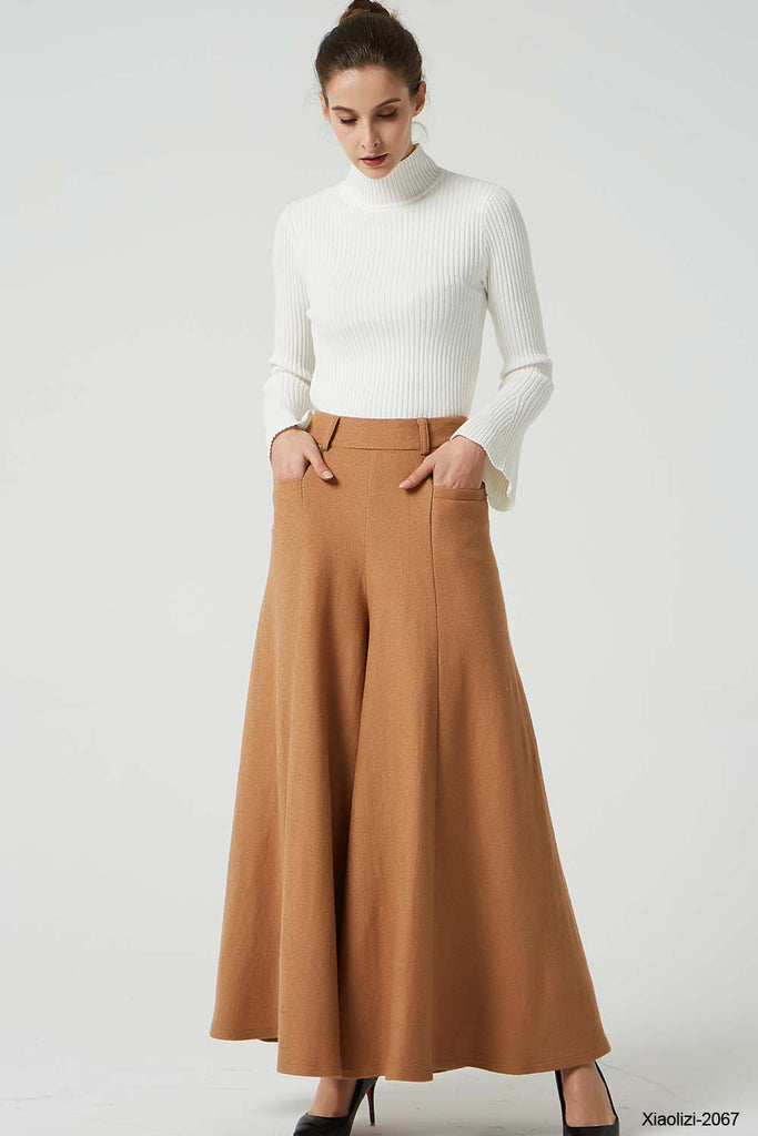brown wool pants