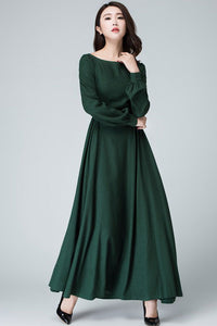 Women Vintage inspired Medieval Linen maxi dress 145401