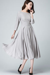 3/4 sleeve fit and flare Cocktail dress 1462#