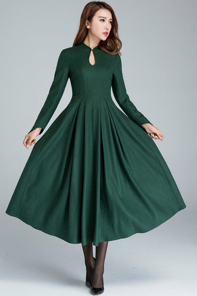 Vintage 1950s Maxi dress,Fit and flare dress 1621#