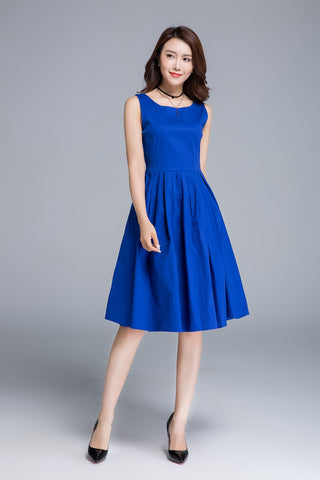 blue dress, summer dress, party dress 1656