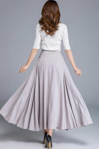 grey swing maxi skirt 1666#