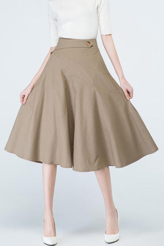 50S high wasit A line skirt  1692#