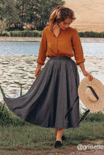 Load image into Gallery viewer, Vintage 1950s Wool Maxi skirt 1641#