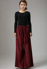 Load image into Gallery viewer, Corduroy wild leg palazzo pants 0749#