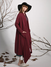 Load image into Gallery viewer, Linen dress jacket red jacket spring jacket loose tops 1135