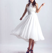 Load image into Gallery viewer, White party dress prom dress wedding dress maxi dress (0076)