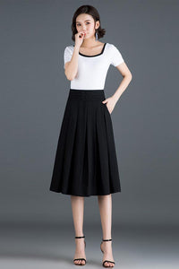 women summer high waist a line commuter skirt CYM319