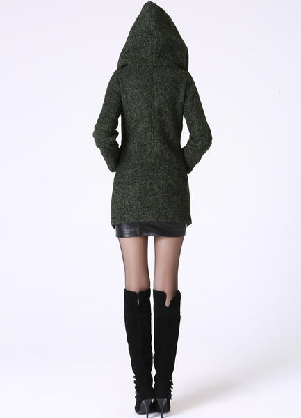 Green wool jacket