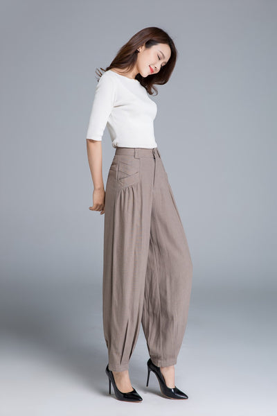 linen pant, maxi pants, made to order pants 1665