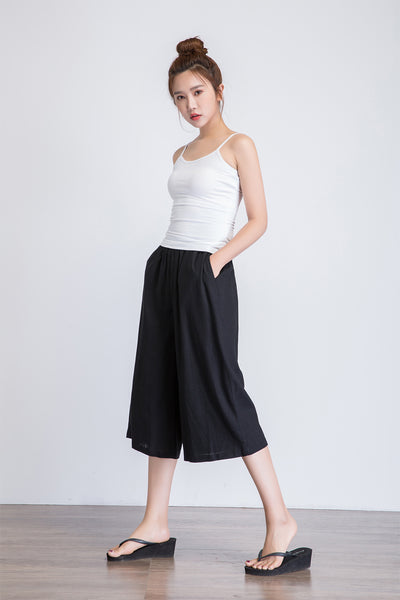 crop wide leg pants