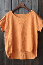 Load image into Gallery viewer, Short sleeve linen top for women J009-05
