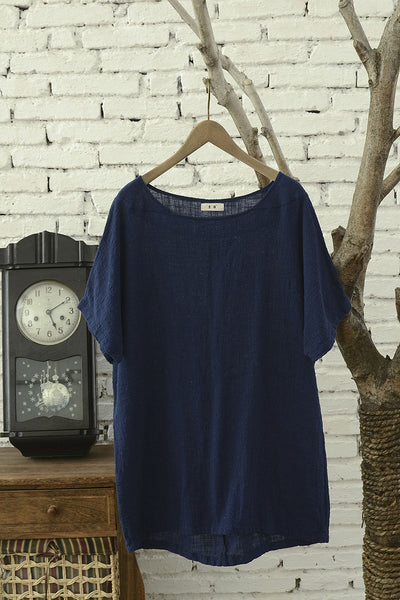 Loose fitting top for summer with short sleeve J009-9