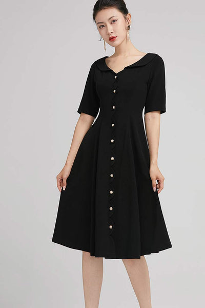 Romantic summer women party a line dress with button 2226#