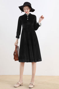 Velvet little black dress 2520