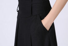 Load image into Gallery viewer, Knee-Length Asymmetrical wool pleated Skirt 1068#